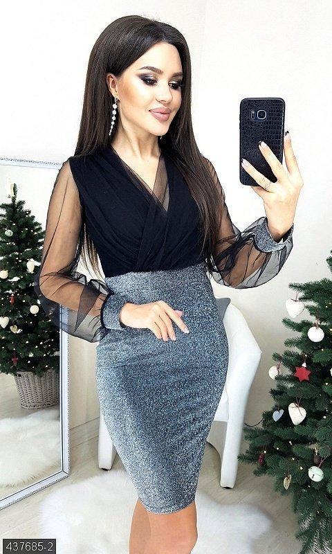 Платье люрекс шифон
