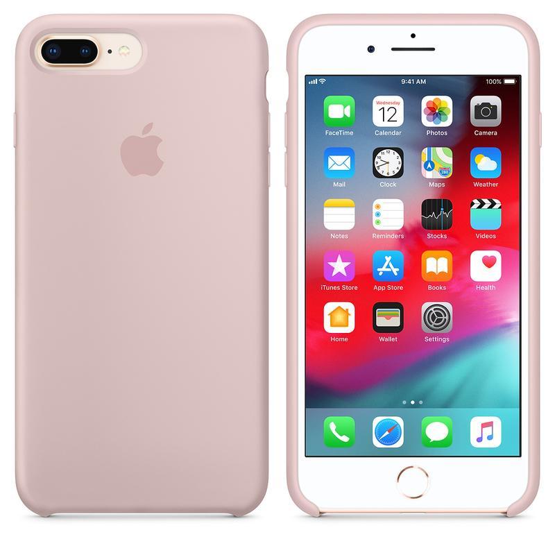 Силиконовый чехол для iPhone 7/8 plus, цвет «розовый песок» - Фото 3