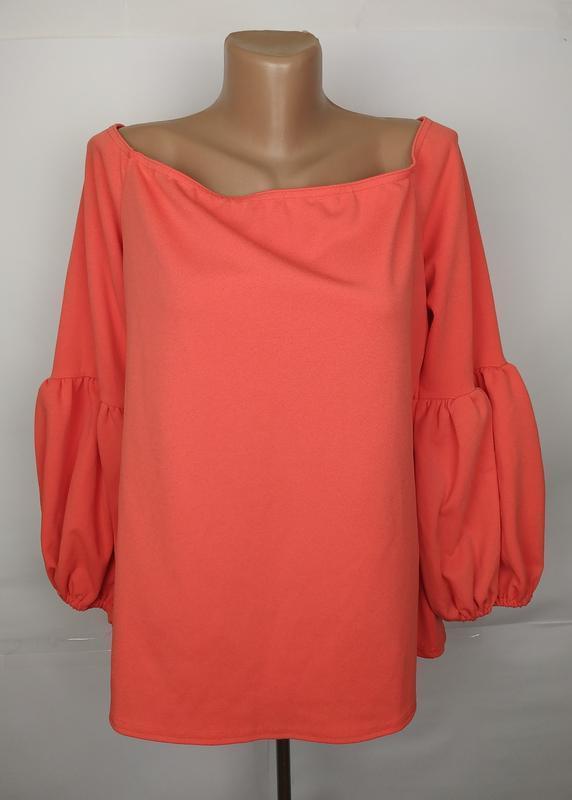 Блуза новая шикарная коралловая большого размера capsule uk 18...
