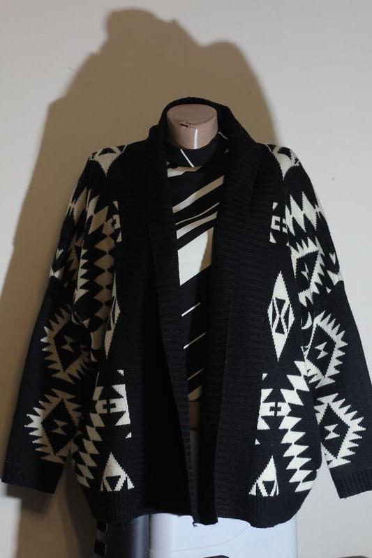 Кардиган,кофта длинная,вязанное пальто без застежки,этно(бохо)...