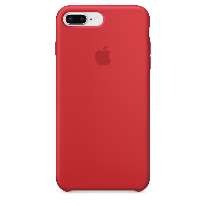 Силиконовый чехол для iPhone 7/8 plus, цвет «красный»