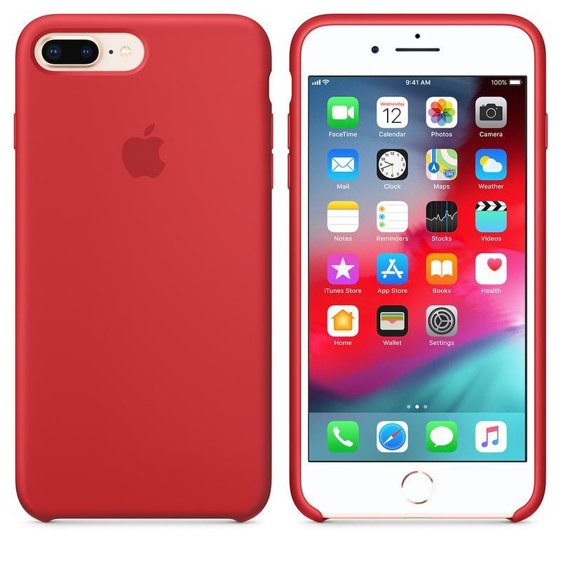 Силиконовый чехол для iPhone 7/8 plus, цвет «красный» - Фото 2