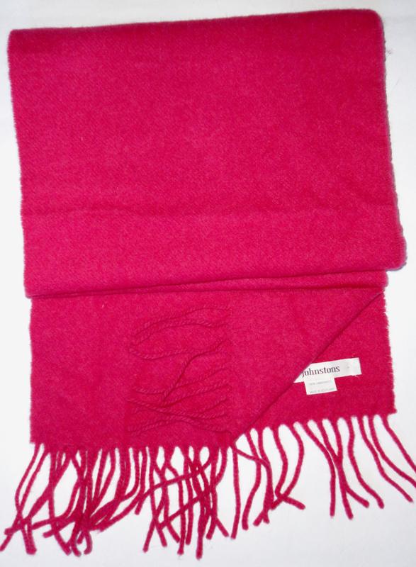 Шерстяной шарф johnstons 175х25    100% шерсть