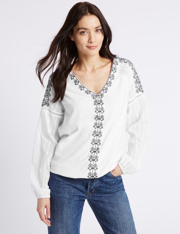 Брендовая вышиванка нежнейшая блуза из хлопка