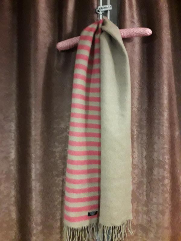 Шикарный двусторонний  шерстяной шотландский шарф