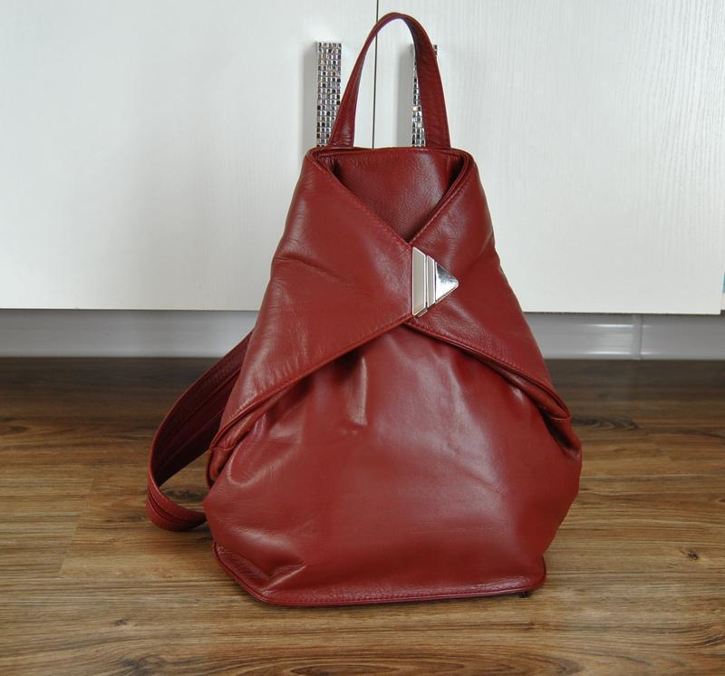 Кожаный рюкзак visconti кожаная сумка / шкіряний рюкзак