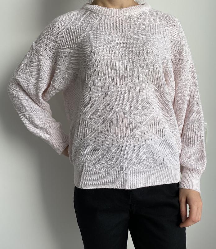 Светло розовый свитшоты, кофта вязаная, свитер