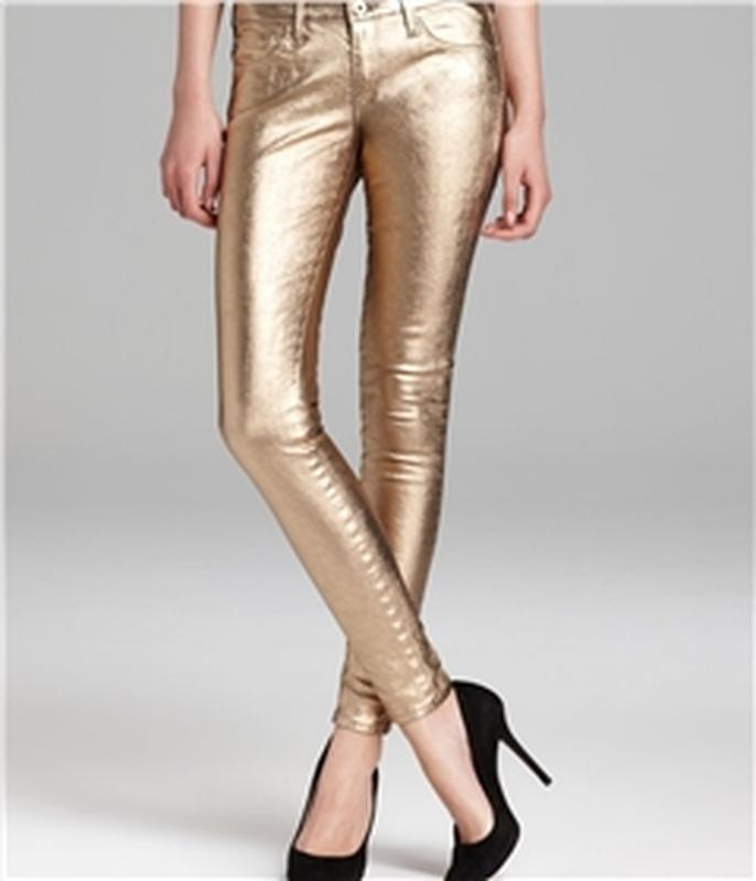 Очень крутые золотые джинсы