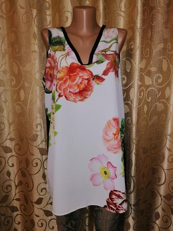 🌺🎀🌺красивая женская майка, блузка в цветочный принт 16 р. mark...