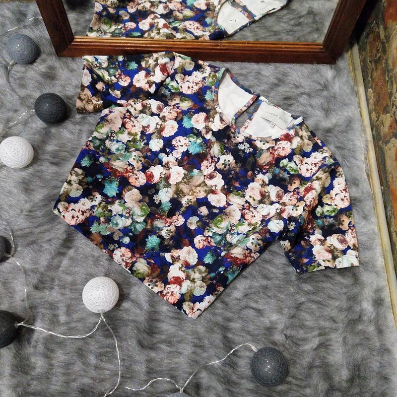 Укороченный свитшот топ блуза кофточка