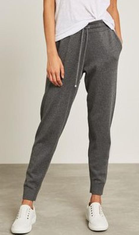 Крутые трикотажные меланжевые спортивные штаны с кашемиром выс...