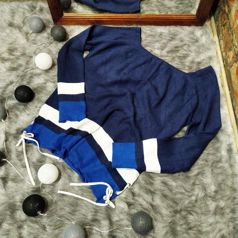 Пуловер джемпер со шнуровкой george