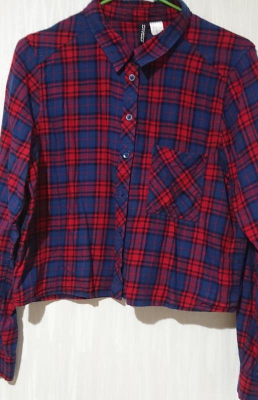 Рубашка в клетку divided
