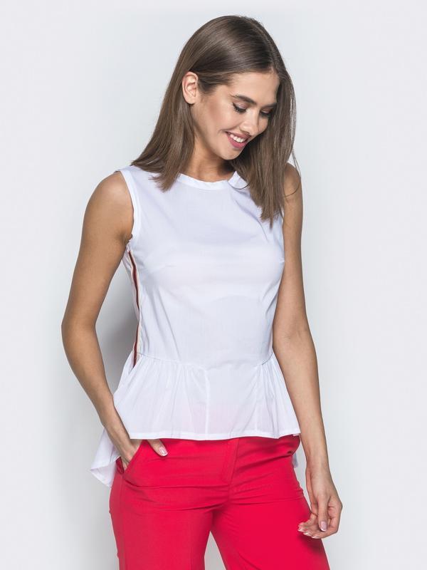 Белая блуза с баской zara,рs