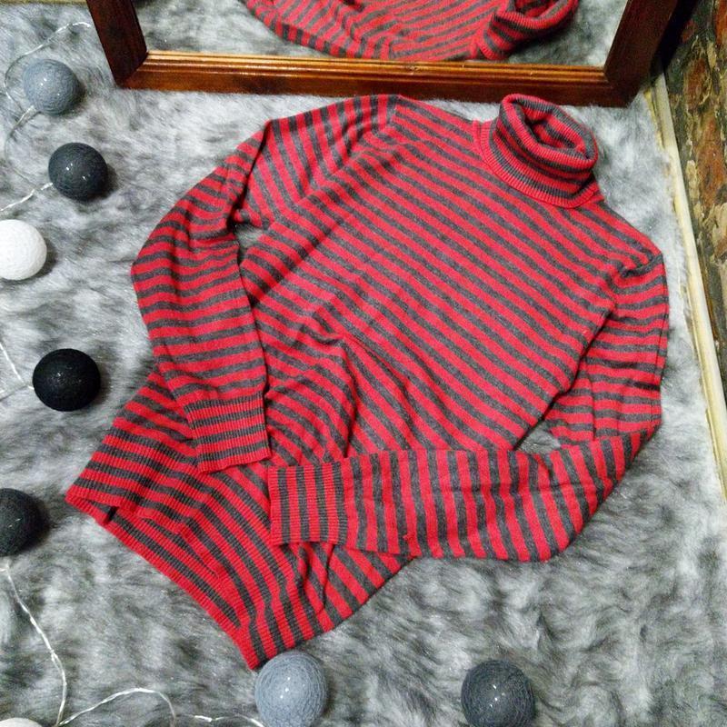 Водолазка джемпер свитер в полоску papaya