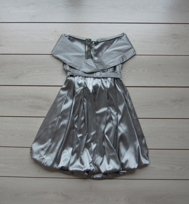 Новогодние скидки!новое серебристое вечернее платье от ge & yu...