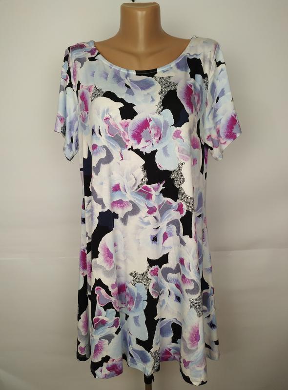 Платье туника трикотажное вискозное красивое большой размер ma...