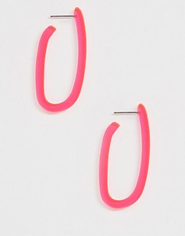 Liars & lovers эксклюзивные серьги-кольца в неоновом цвете
