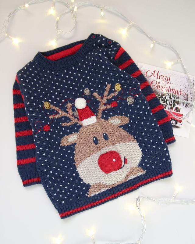 Новогодний свитер от george с оленем