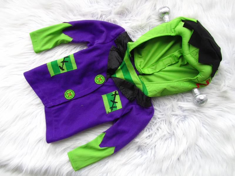 Карнавальный костюм кофта реглан бомбер с капюшоном  франкеншт...