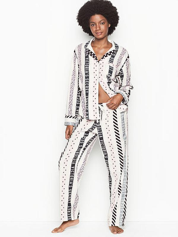 Красивая фланелевая пижама victoria's secret xs,s