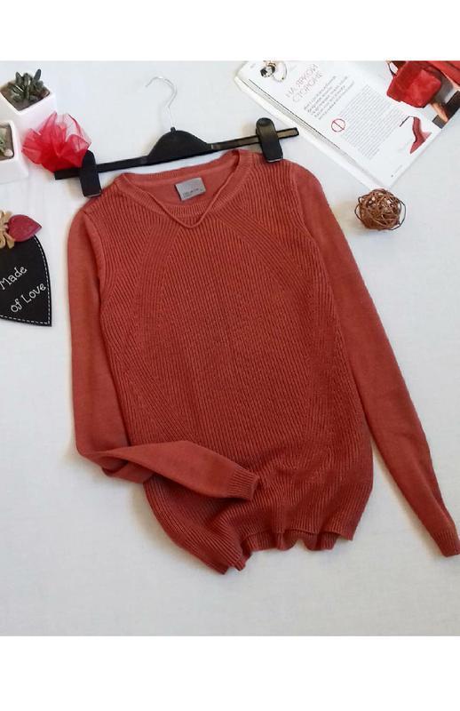 Терракотовый свитер кофточка vero moda