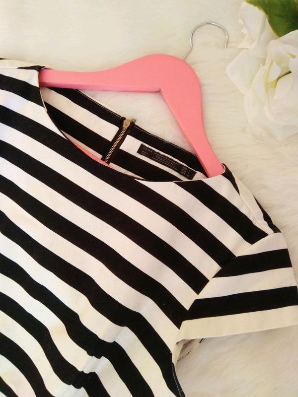 Платье в полоску от Zara прямое