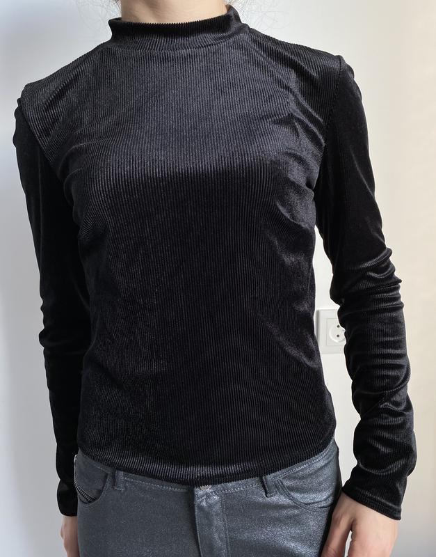 Черная женская кофта с блеском, праздничная,свитер atmosphere