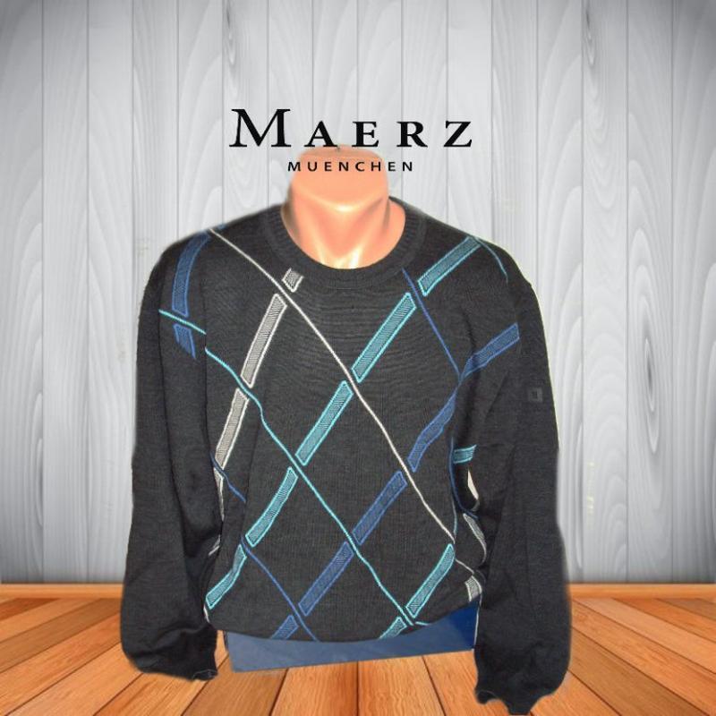 💨❄maerz 100% мерино стильный мужской свитер с рисунком т графи...