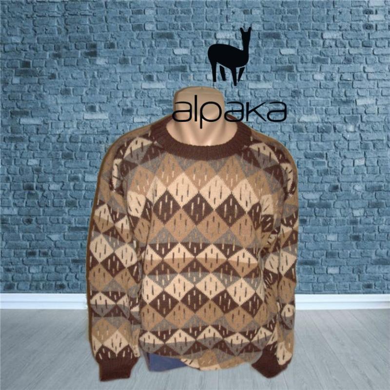 💨💨alpaca 100% альпака супер теплый мужской свитер в орнамент l💨💨💨