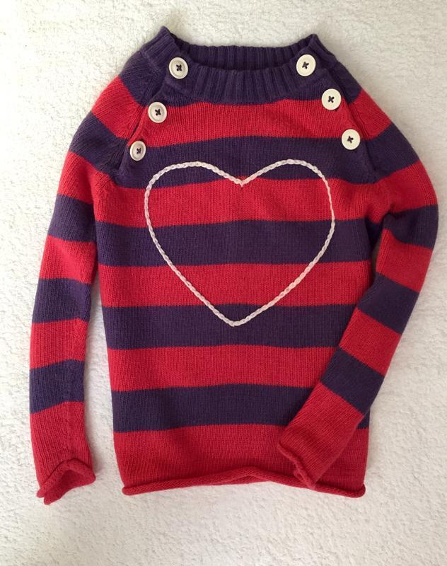 Тёплый свитер для девочки 5-6лет