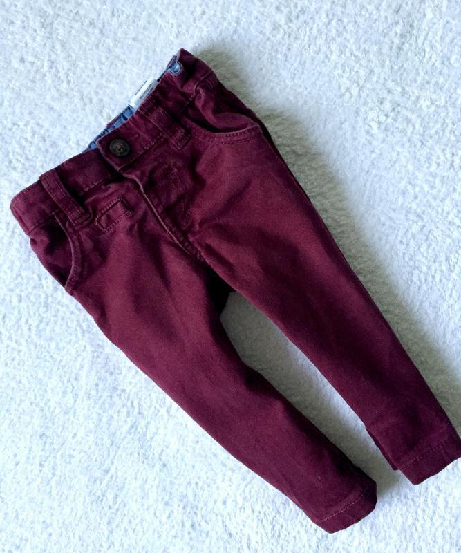 Стильные зауженные джинсы для малыша 3-6мес