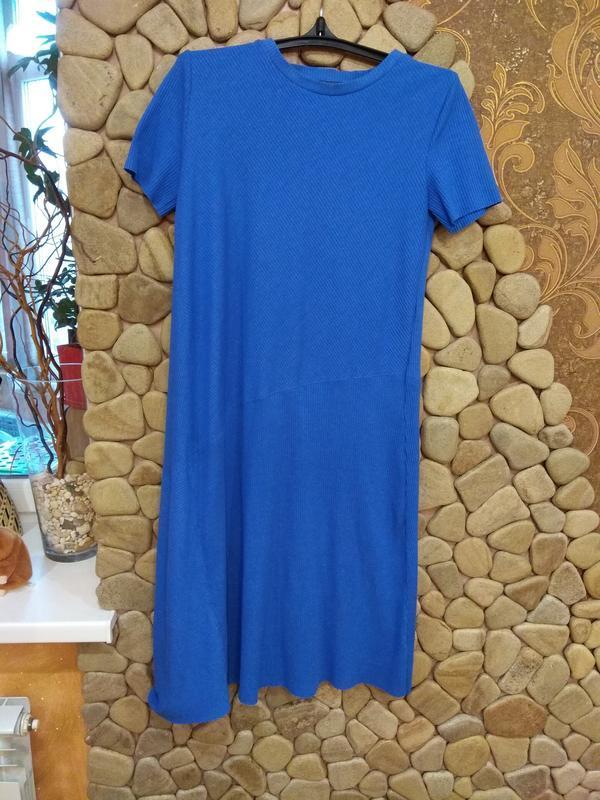 Платье, платье в рубчик