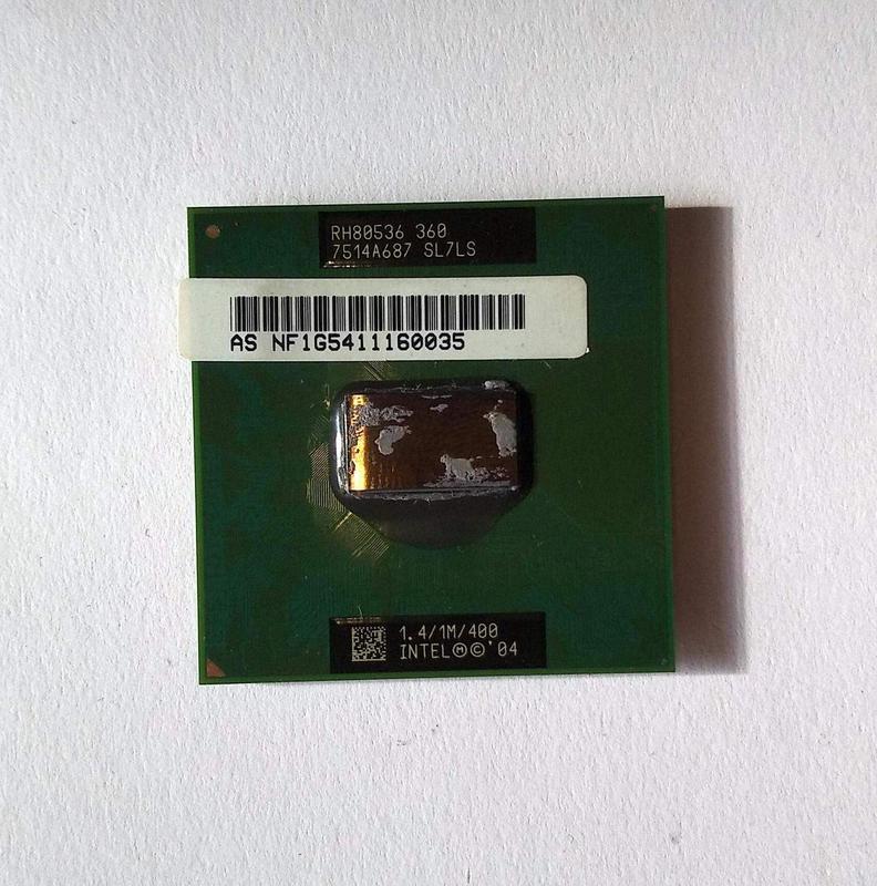 489 Intel Celeron M 360 1.4 GHz SL7LS Socket mPGA478C 1 ядро 3...