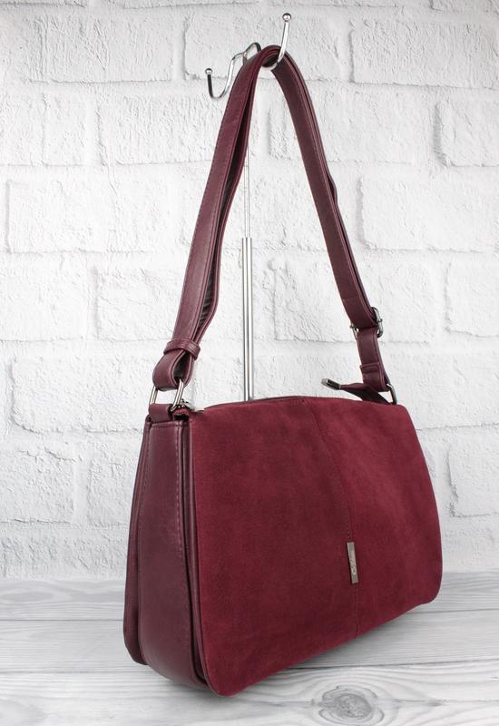 Мягкая, вместительная сумка gilda tohetti 60488-1 бордовая с з...