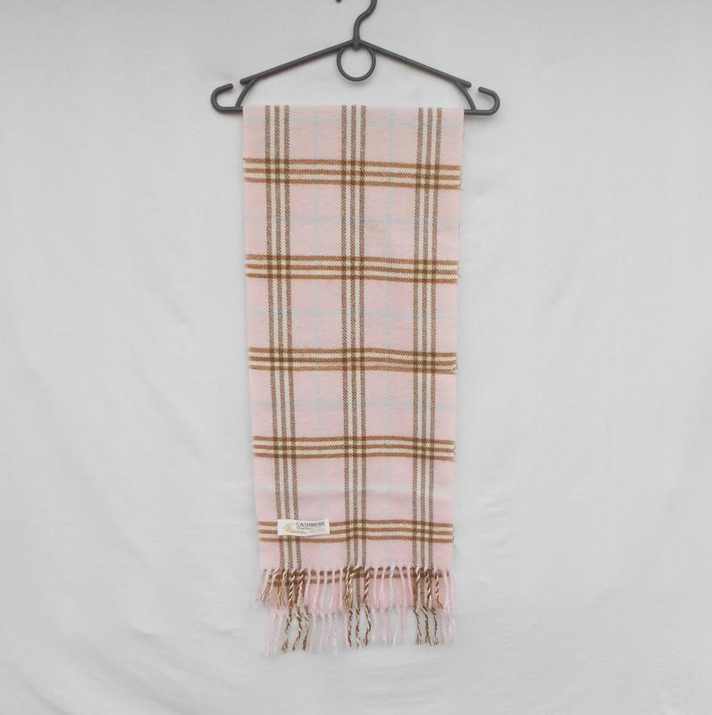 Кашемировый шарф   в клетку  royal rossi