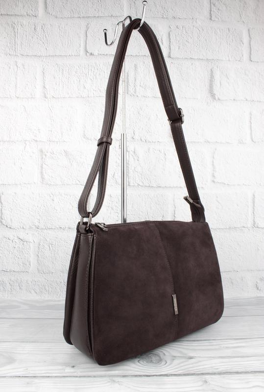 Мягкая, вместительная сумка gilda tohetti 60488-1 коричневая с...
