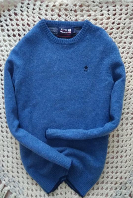Невероятно красивий, теплий свитер от river woods,100%lana wool.
