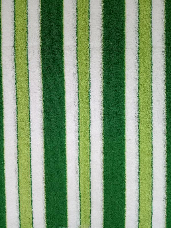 Махровое полотенце 100*50 зеленое с белым - Фото 3