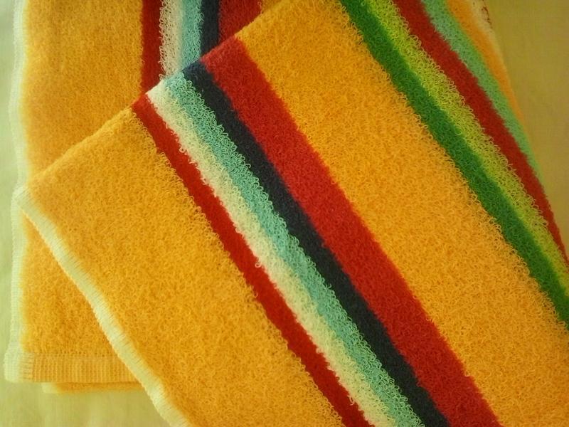 Махровое полотенце 100*50 желтый - Фото 4