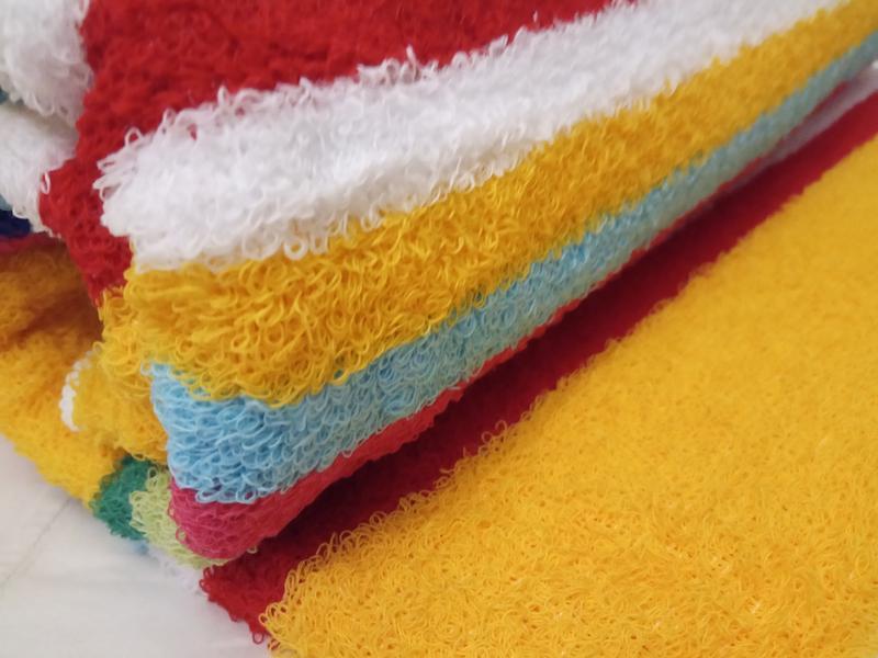 Махровое полотенце 100*50 желтый - Фото 2
