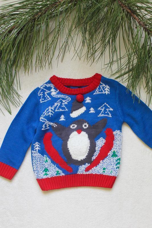 Детский новогодний свитер от george (56), 9-12 месяцев