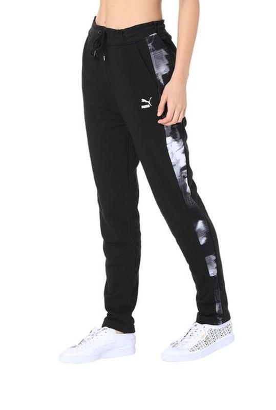 Фирменные трикотажные спортивные штаны с лампасами высокая пос...