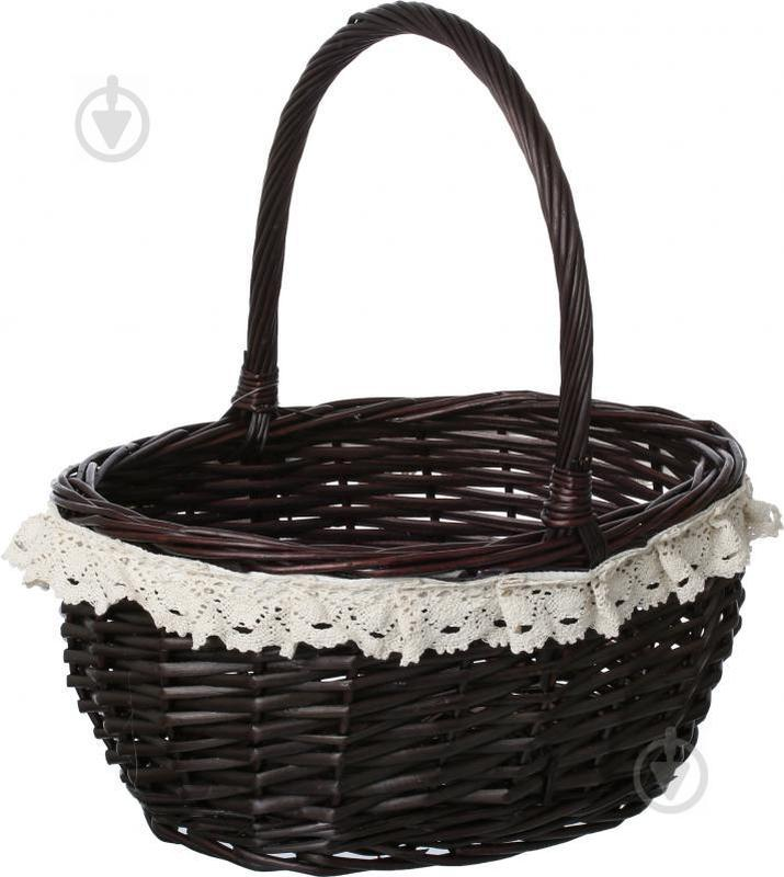 Корзина плетеная с текстилем 37х31х19/41 см Easter 16-2A-1