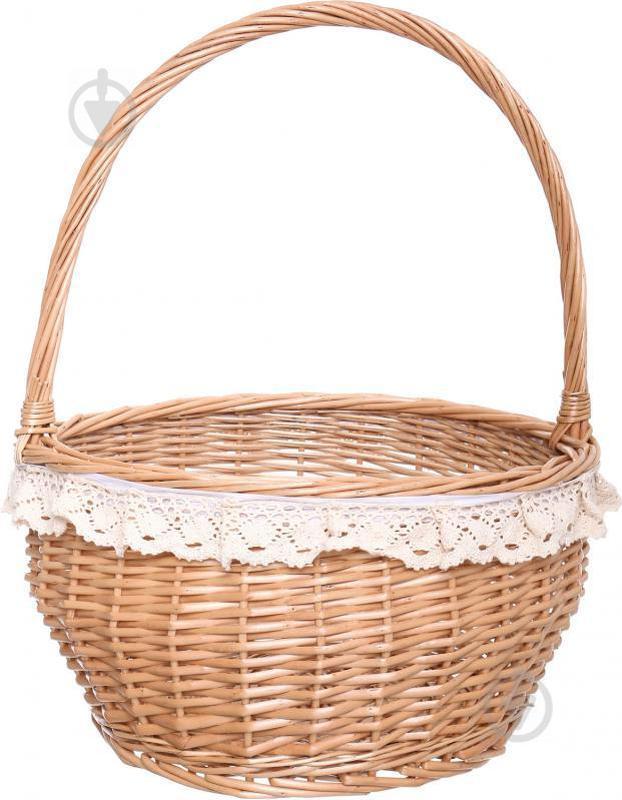 Корзина плетеная с текстилем 35/27х20/45 см Easter 16-4B-1