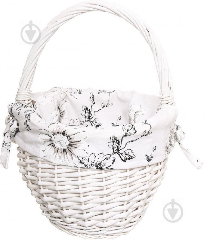 Корзина плетеная с текстилем 29х22х17/33 см Easter 16-6A-2
