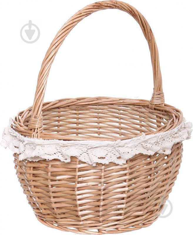 Корзина плетеная с текстилем 28/22х18/35 см Easter 16-4B-2