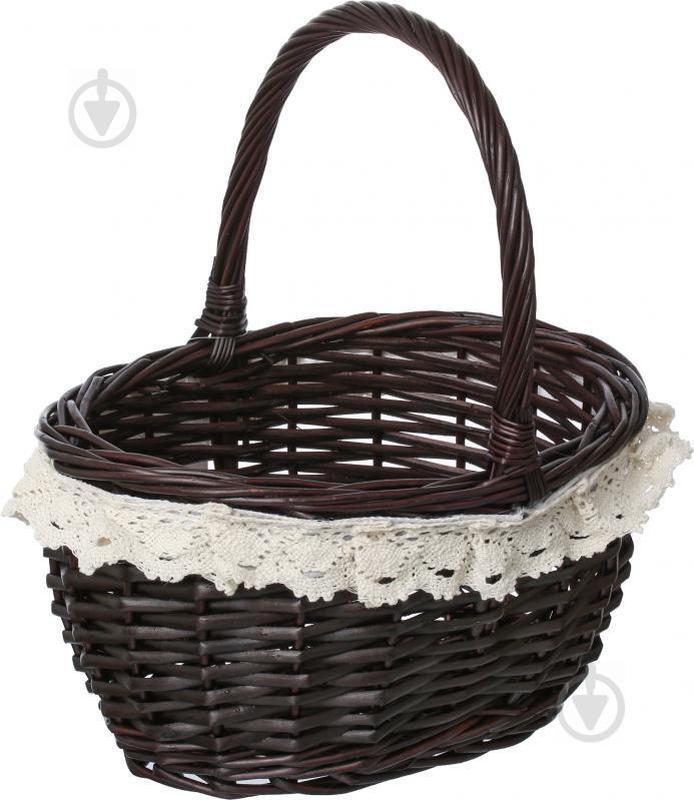 Корзина плетеная с текстилем 29х22х17/33 см Easter 16-2A-2