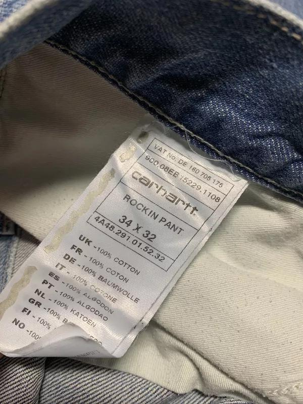 Мужские джинсы Carhartt Rockin Pant W34/L32 (не dickies, levis)