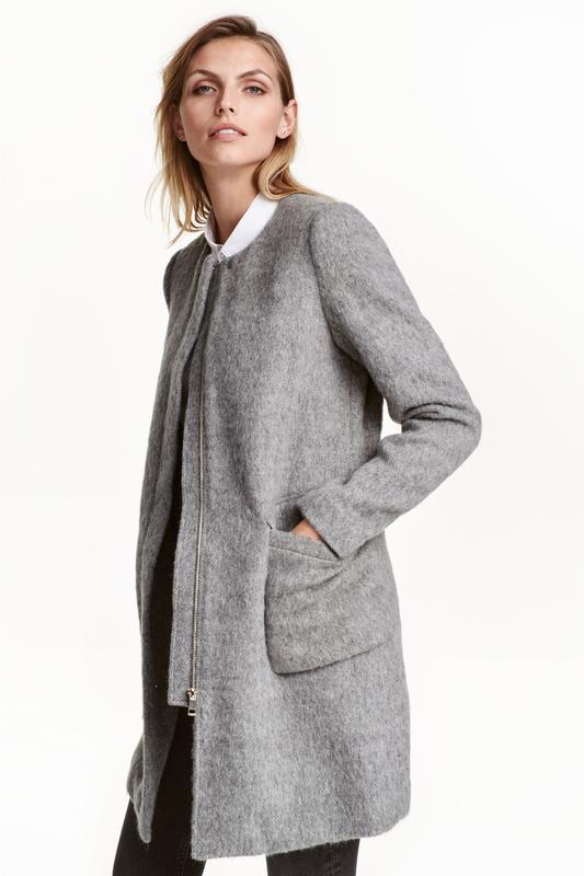 Пальто h&m из смесовой шерсти размер 42, 44